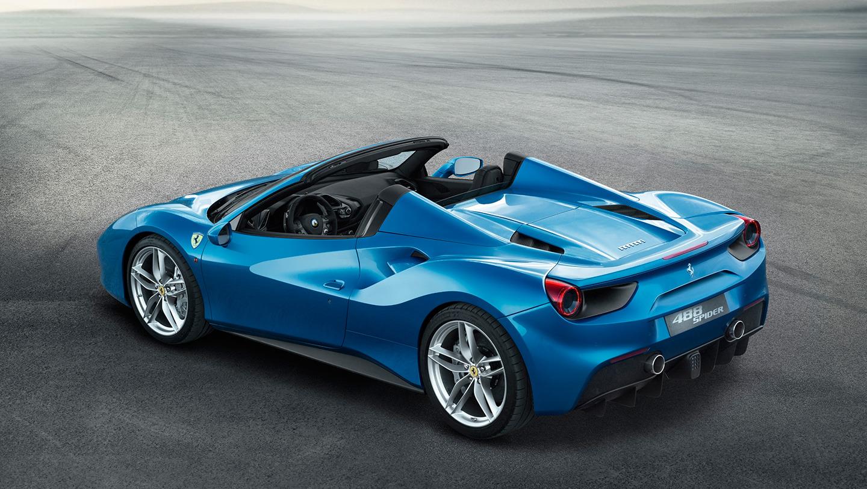 ferrari-488-spider-azul alquiler coches de lujo madrid marbella ibiza barcelona valencia